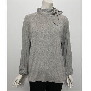 Lauren Ralph Lauren Tie Neck Mock Turtleneck Shirt